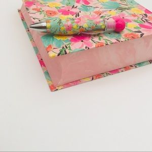 Other - Floral Book Box with Matching Pen